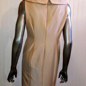 Kay Unger Dresses - Kay Unger New York Silk Tan Dress - 12P - B5